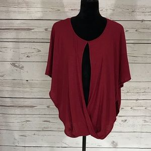 Anna & Ava One Size Poncho Top Batwing Arms NWT